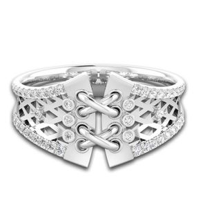 🆕 Silver Toned Corset Ring